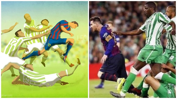 Six-year-old painting of Messi became reality against Real Betis