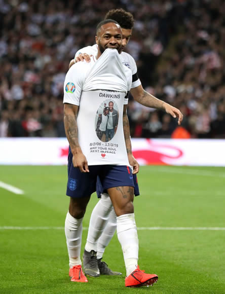 England hero Raheem Sterling pays tribute to tragic Palace teen Damary Dawkins who died from Leukaemia on Sunday aged 13