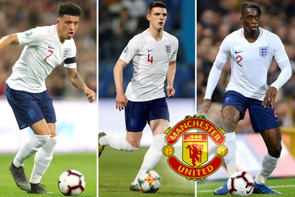 Man Utd line up stunning triple transfer swoop for Wan-Bissaka, Rice and Sancho