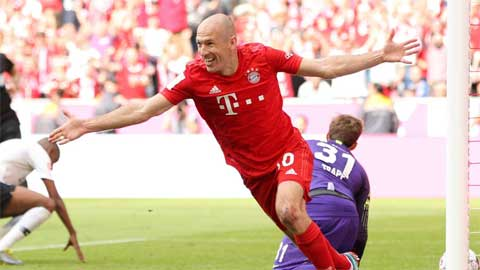 Bayern Munich 5-1 Eintracht Frankfurt: Robben and Ribery strike to seal seventh consecutive Bundesliga title