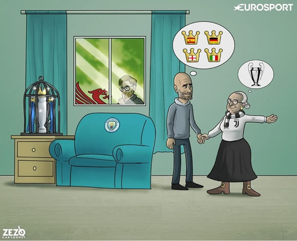 7M Daily Laugh - The Old Lady tempts Pep Guardiola!