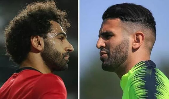 Liverpool star Mohamed Salah sent challenge by Man City rival Riyad Mahrez on Egypt duty