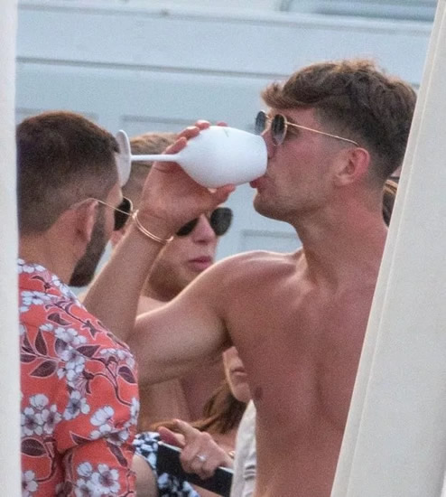 STONED Man City star John Stones parties in Ibiza with footie pals after brawl broke out among group