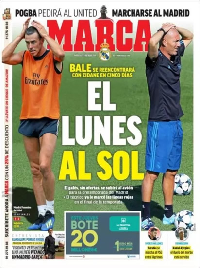 THE HEAT IS ON Gareth Bale enjoys Mexico heat on holiday… but is set for frosty reception from Zinedine Zidane at Real Madrid training