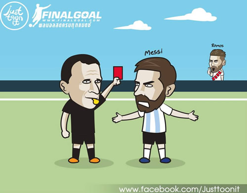 7M Daily Laugh - The 2nd red for Messi