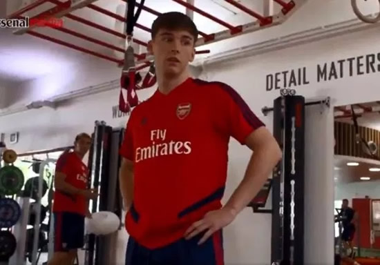 Kieran Tierney stuns Arsenal medical staff as he smashes Aubameyang's vertical jump record… despite carrying an injury