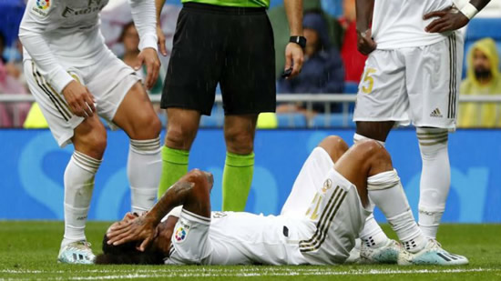 Marcelo suffers cervicodorsal injury and will miss PSG clash