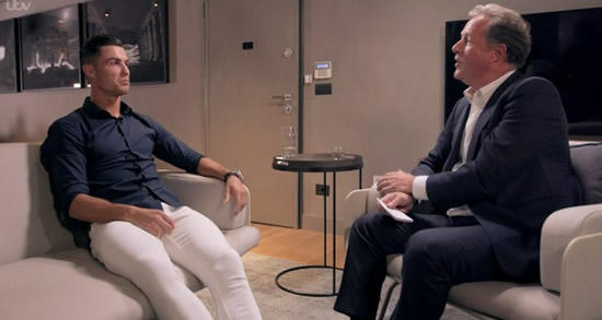 Cristiano Ronaldo tells Piers Morgan that sex is better than scoring on pitch