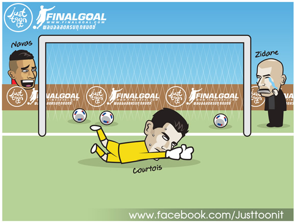 7M Daily Laugh - Navas 3-0 Courtois