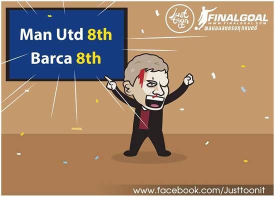 7M Daily Laugh - Mufc same class with Barca