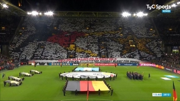 Germany fans tease Argentina with tifo resembling Gotze's World Cup winner