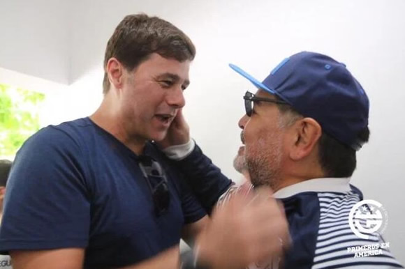 Ex-Spurs boss Pochettino visits Maradona before watching his Gimnasia side in action