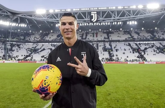 RONDERFUL Cristiano Ronaldo shows off his incredible body aged 34 as Juventus star trains ahead of Roma clash