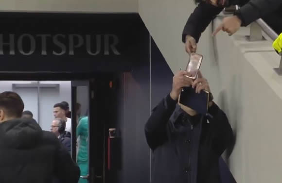 Watch hilarious moment fan tries to take selfie with Mourinho before Tottenham boss snaps top of his head and a wall