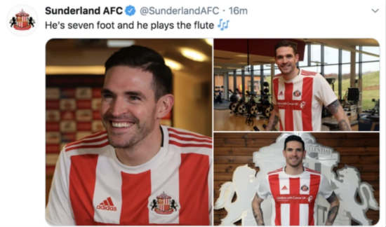 Sunderland apologise for referencing controversial chant in Kyle Lafferty transfer announcement