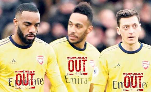 Arteta could axe Lacazette, Aubameyang and Ozil as unimpressed boss plans major Arsenal shake-up