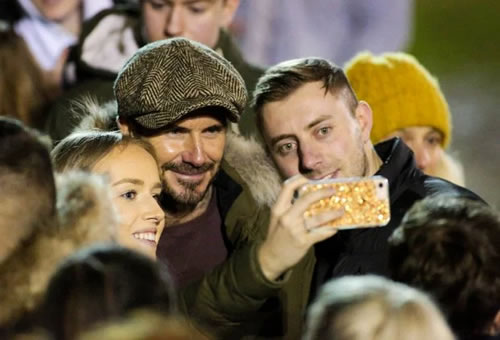 David Beckham takes break from Inter Miami prep as he watches son Romeo play at tiny Somerset club Clevedon Town AFC