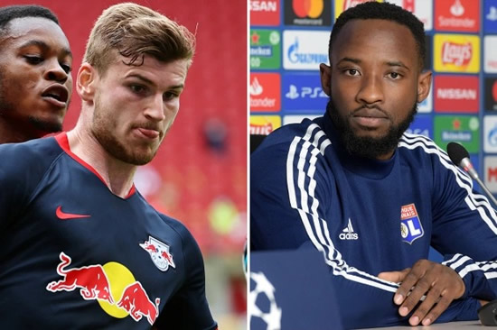 STRIKING GOLD Man Utd join Timo Werner transfer hunt with Liverpool and eye Lyon striker Moussa Dembele with Ighalo loan ending