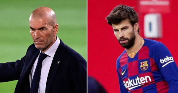 Real Madrid's Zidane refutes Pique's hint that referees favour Madrid