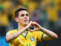 Oscar scored Brazil the winner.