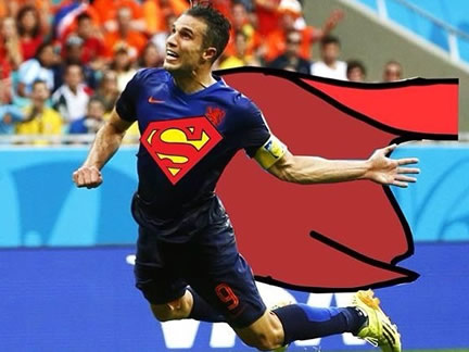 Funny Images of flying Dutchman Robin van Persie