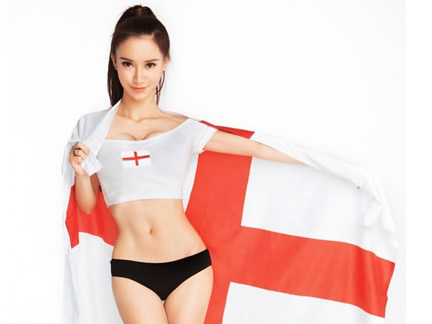 Football Babe supports England