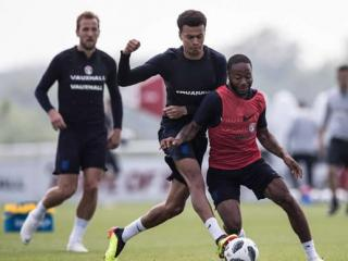 England train ahead of World Cup warm-up matches