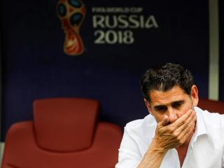 Hierro leaves job as Spain coach