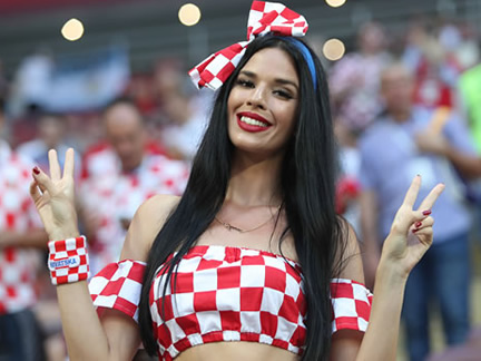 Check the pics of a beautiful Croatian fan