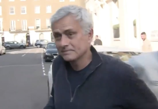 Jose Mourinho breaks silence after Spurs sacking with rant outside home